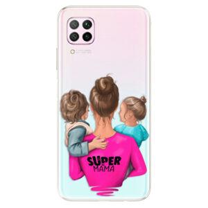 Odolné silikónové puzdro iSaprio - Super Mama - Boy and Girl - Huawei P40 Lite