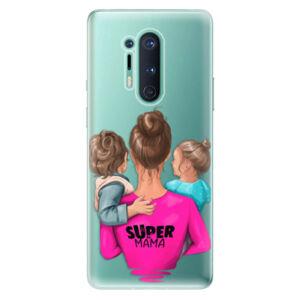 Odolné silikónové puzdro iSaprio - Super Mama - Boy and Girl - OnePlus 8 Pro