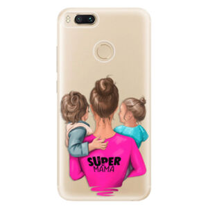 Odolné silikónové puzdro iSaprio - Super Mama - Boy and Girl - Xiaomi Mi A1