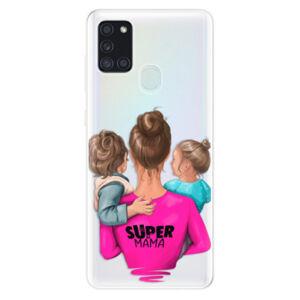 Odolné silikónové puzdro iSaprio - Super Mama - Boy and Girl - Samsung Galaxy A21s