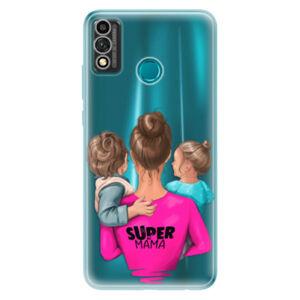 Odolné silikónové puzdro iSaprio - Super Mama - Boy and Girl - Honor 9X Lite