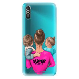 Odolné silikónové puzdro iSaprio - Super Mama - Boy and Girl - Xiaomi Redmi 9A