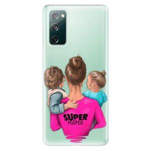 Odolné silikónové puzdro iSaprio - Super Mama - Boy and Girl - Samsung Galaxy S20 FE