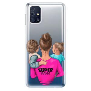 Odolné silikónové puzdro iSaprio - Super Mama - Boy and Girl - Samsung Galaxy M31s