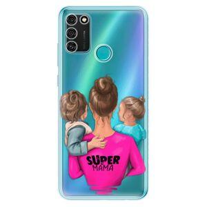 Odolné silikónové puzdro iSaprio - Super Mama - Boy and Girl - Honor 9A