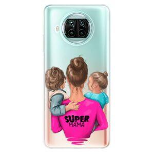 Odolné silikónové puzdro iSaprio - Super Mama - Boy and Girl - Xiaomi Mi 10T Lite