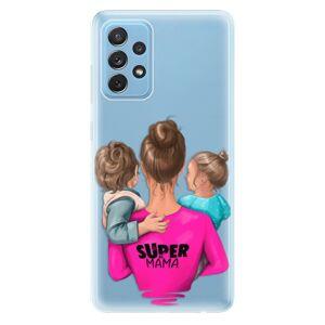 Odolné silikónové puzdro iSaprio - Super Mama - Boy and Girl - Samsung Galaxy A72