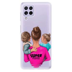 Odolné silikónové puzdro iSaprio - Super Mama - Boy and Girl - Samsung Galaxy A22