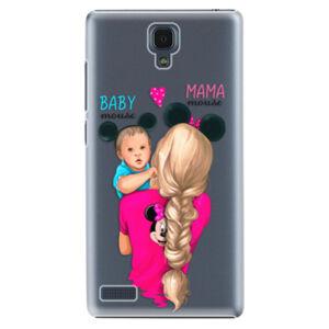 Plastové puzdro iSaprio - Mama Mouse Blonde and Boy - Xiaomi Redmi Note
