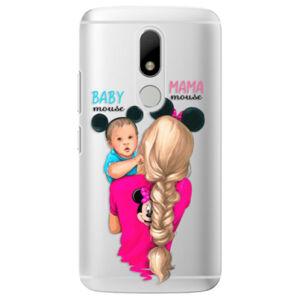 Plastové puzdro iSaprio - Mama Mouse Blonde and Boy - Lenovo Moto M