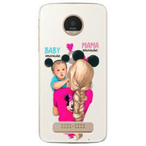 Plastové puzdro iSaprio - Mama Mouse Blonde and Boy - Lenovo Moto Z Play