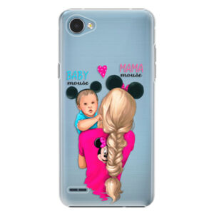 Plastové puzdro iSaprio - Mama Mouse Blonde and Boy - LG Q6
