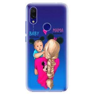 Plastové puzdro iSaprio - Mama Mouse Blonde and Boy - Xiaomi Redmi 7