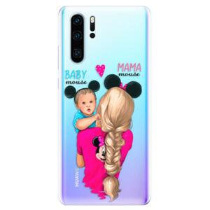 Odolné silikonové pouzdro iSaprio - Mama Mouse Blonde and Boy - Huawei P30 Pro