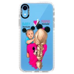 Silikónové púzdro Bumper iSaprio - Mama Mouse Blonde and Boy - iPhone XR