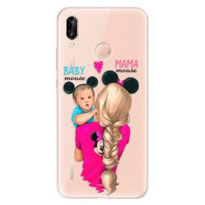 Odolné silikónové puzdro iSaprio - Mama Mouse Blonde and Boy - Huawei P20 Lite