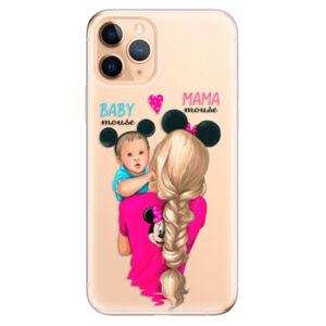 Odolné silikónové puzdro iSaprio - Mama Mouse Blonde and Boy - iPhone 11 Pro