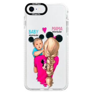 Silikónové puzdro Bumper iSaprio - Mama Mouse Blonde and Boy - iPhone SE 2020