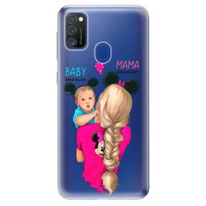 Odolné silikónové puzdro iSaprio - Mama Mouse Blonde and Boy - Samsung Galaxy M21