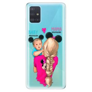 Odolné silikónové puzdro iSaprio - Mama Mouse Blonde and Boy - Samsung Galaxy A51