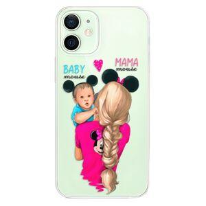 Odolné silikónové puzdro iSaprio - Mama Mouse Blonde and Boy - iPhone 12 mini