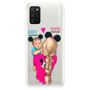 Odolné silikónové puzdro iSaprio - Mama Mouse Blonde and Boy - Samsung Galaxy A02s