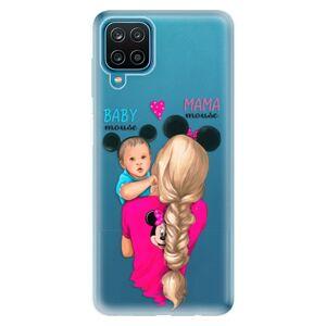 Odolné silikónové puzdro iSaprio - Mama Mouse Blonde and Boy - Samsung Galaxy A12