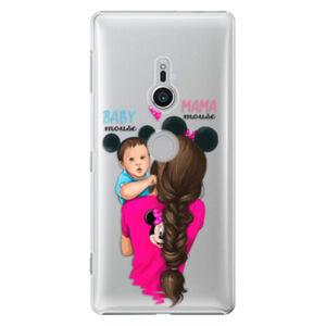 Plastové puzdro iSaprio - Mama Mouse Brunette and Boy - Sony Xperia XZ2