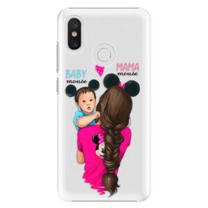 Plastové puzdro iSaprio - Mama Mouse Brunette and Boy - Xiaomi Mi 8