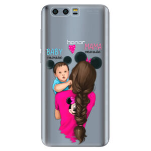 Silikónové puzdro iSaprio - Mama Mouse Brunette and Boy - Huawei Honor 9