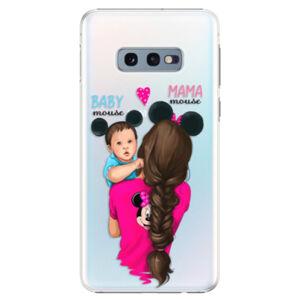 Plastové puzdro iSaprio - Mama Mouse Brunette and Boy - Samsung Galaxy S10e