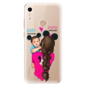 Odolné silikónové puzdro iSaprio - Mama Mouse Brunette and Boy - Huawei Honor 8A