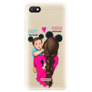 Odolné silikónové puzdro iSaprio - Mama Mouse Brunette and Boy - Xiaomi Redmi 6A