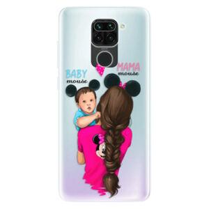 Odolné silikónové puzdro iSaprio - Mama Mouse Brunette and Boy - Xiaomi Redmi Note 9