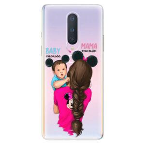 Odolné silikónové puzdro iSaprio - Mama Mouse Brunette and Boy - OnePlus 8