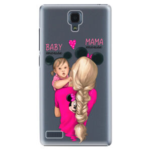Plastové puzdro iSaprio - Mama Mouse Blond and Girl - Xiaomi Redmi Note