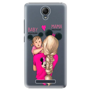Plastové puzdro iSaprio - Mama Mouse Blond and Girl - Xiaomi Redmi Note 2
