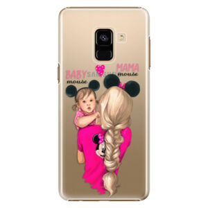 Plastové puzdro iSaprio - Mama Mouse Blond and Girl - Samsung Galaxy A8 2018