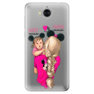 Silikónové puzdro iSaprio - Mama Mouse Blond and Girl - Huawei Y5 2017 / Y6 2017