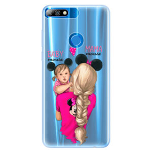Silikónové puzdro iSaprio - Mama Mouse Blond and Girl - Huawei Y7 Prime 2018