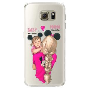 Silikónové puzdro iSaprio - Mama Mouse Blond and Girl - Samsung Galaxy S6 Edge