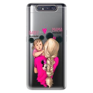 Odolné silikónové puzdro iSaprio - Mama Mouse Blond and Girl - Samsung Galaxy A80