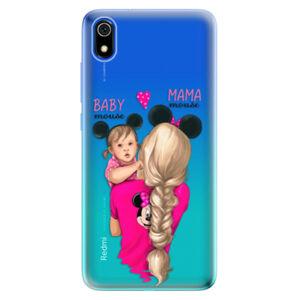 Odolné silikónové puzdro iSaprio - Mama Mouse Blond and Girl - Xiaomi Redmi 7A