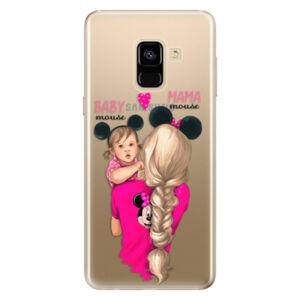 Odolné silikónové puzdro iSaprio - Mama Mouse Blond and Girl - Samsung Galaxy A8 2018