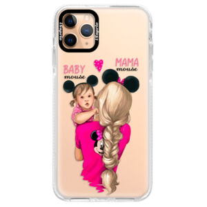 Silikónové puzdro Bumper iSaprio - Mama Mouse Blond and Girl - iPhone 11 Pro Max