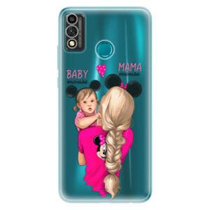 Odolné silikónové puzdro iSaprio - Mama Mouse Blond and Girl - Honor 9X Lite