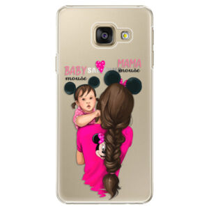 Plastové puzdro iSaprio - Mama Mouse Brunette and Girl - Samsung Galaxy A3 2016