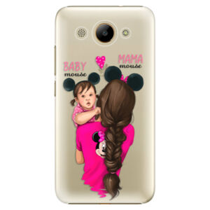 Plastové puzdro iSaprio - Mama Mouse Brunette and Girl - Huawei Y3 2017