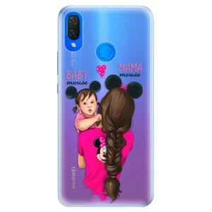 Silikónové puzdro iSaprio - Mama Mouse Brunette and Girl - Huawei Nova 3i