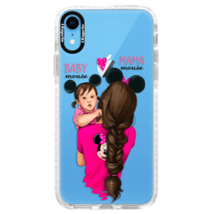 Silikónové púzdro Bumper iSaprio - Mama Mouse Brunette and Girl - iPhone XR